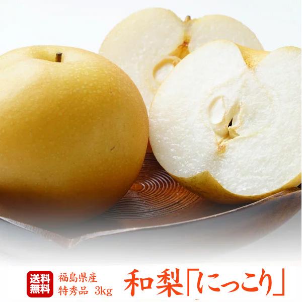 福島県産 梨 にっこり 特秀 3kg(5~7玉)