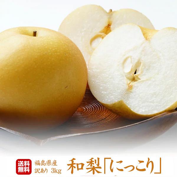 福島県産 梨 にっこり ご家庭用 3kg(5~7玉)